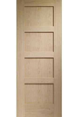 door oak shaker 4 panel only