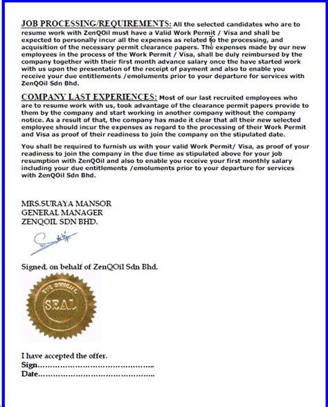 Zenqoil Offer Letter Zenqoil Or Zenq Oil A Fake Company