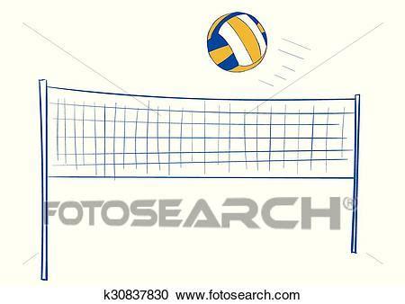 clipart pallavolo clipart filet volley et balle k30837830 recherchez