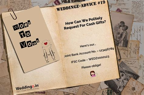 Ways to Politely Ask For Cash as a Wedding Gift ? Weddingz Advice #19   Blog