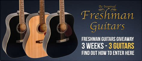 Acoustic Guitar Giveaway - kenny s music latest news deals freshman guitars giveaway
