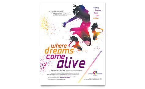 Design A Dance Flyer | dance studio flyer template design