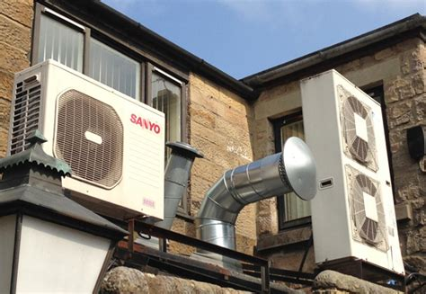 your home source use an air source heat pump to convert air into hot water
