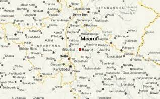 meerut on india map meerut location guide