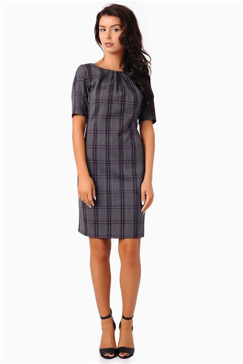 Check Midi Dress sabrina check midi dress iclothing
