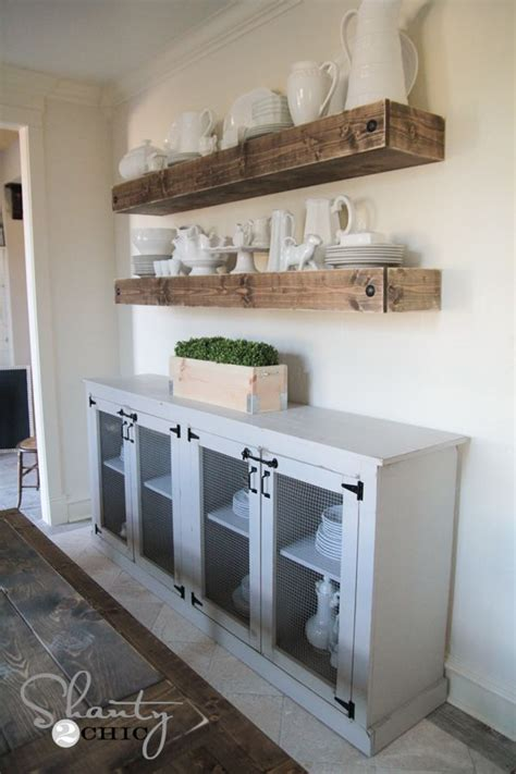 diy sideboard  woodworking plans cabinets  open