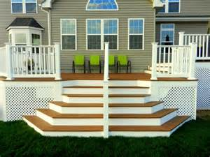 Deck Corner Stairs Design Our Home From Scratch