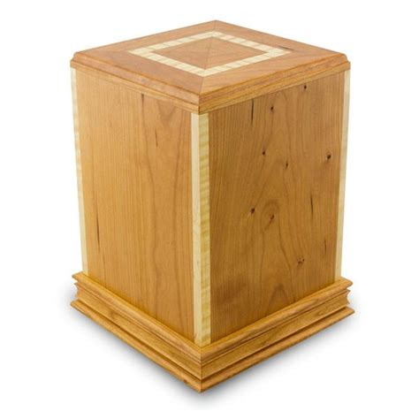 cherry serenity wood cremation urn oneworld memorials