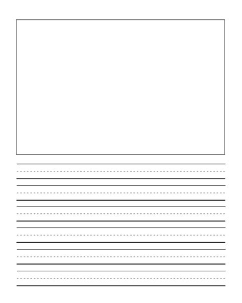 First Grade Writng Paper Template With Picture Journal Writing Handwriting Paper Freebie For Journal Paper Template