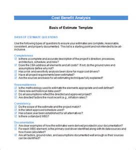 Cost Benefit Analysis Report Template cost benefit analysis template 13 download free