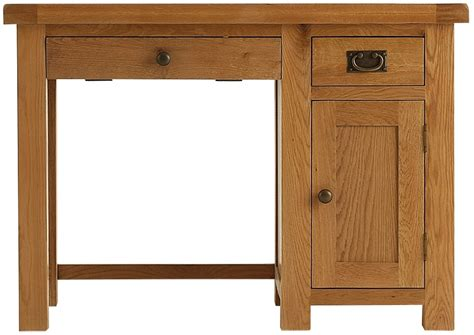 Rustic Oak Computer Desk by Oldbury Oak Furniture Oldbury Rustic Oak Single Computer