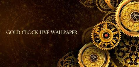 black clock live wallpaper hd v1 05 gold clock live wallpaper for android modern smartphone