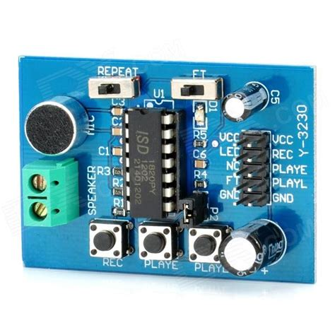 Isd 1820 Voice Module Isd 1820 Modul Perekam Suara isd1820 voice recording and playback module robotech shop