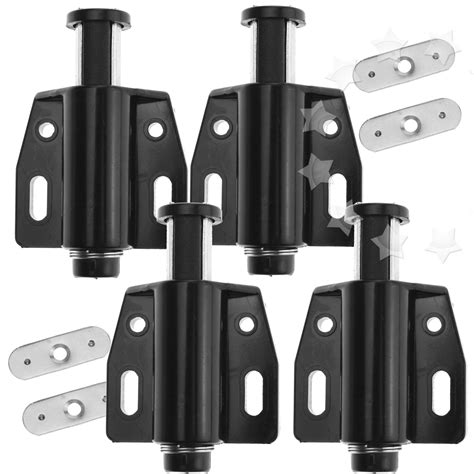 touch latches for cabinet doors black push open magnetic door drawer cabinet latch catch