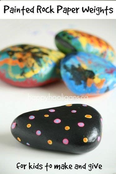 Paper Weight Craft - painted rock paper weight craft for to make crafts
