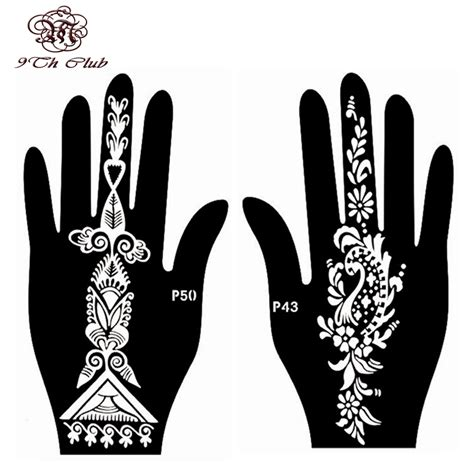 henna tattoo hand stencils aliexpress buy 4pcs easy henna