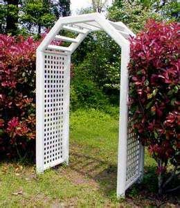 Garden Arbor Arch Plans Wooden Arbor Trellis Arch Two Flower Boxes Cedar Finish Garden