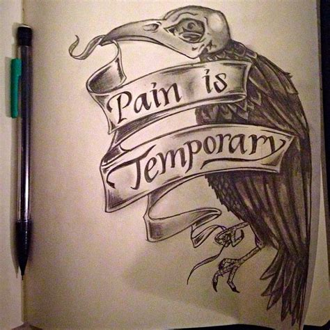 pain is temporary tattoo 17 best images about the pencil on how