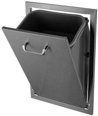HBI Stainless Steel Tilt Out Trash Can (671TT)   Grill