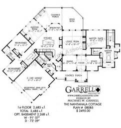 nantahala cottage 2685 plan 08085 cabin house plans