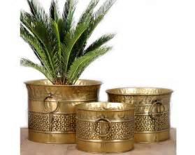 Trellis Planter Brass Antique Daisy Planter Set Of 3 Indoor And