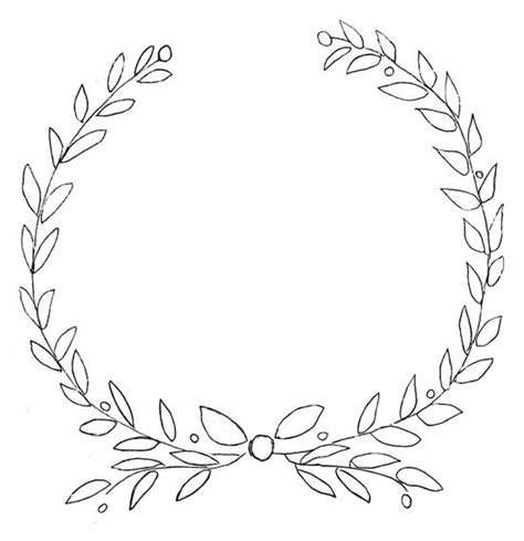 printable laurel leaves free printable wreath design for furniture and chalkboards