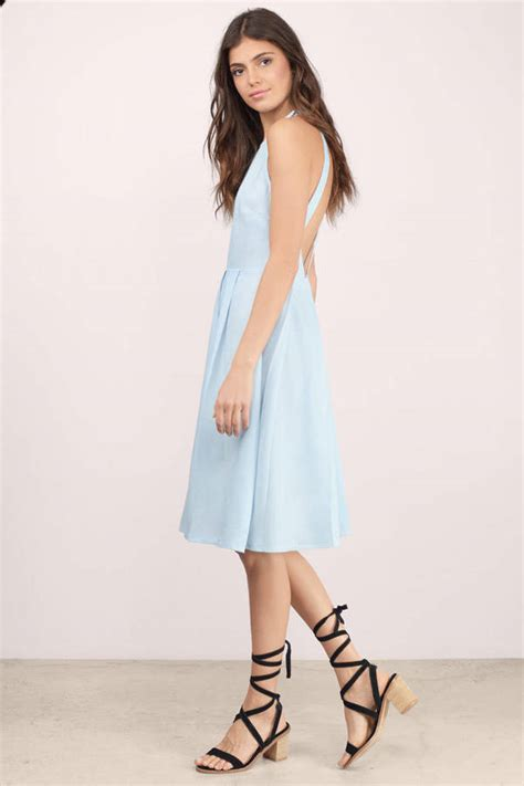 light blue pleated dress trendy blue midi dress blue dress pleated dress 15 00