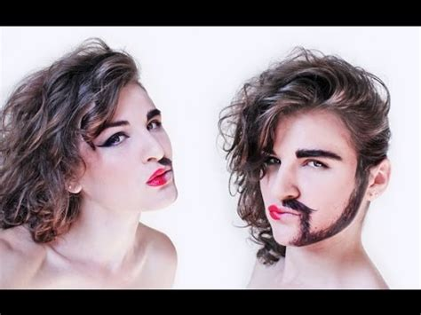 tutorial makeup vire man half woman half man makeup tutorial nk youtube