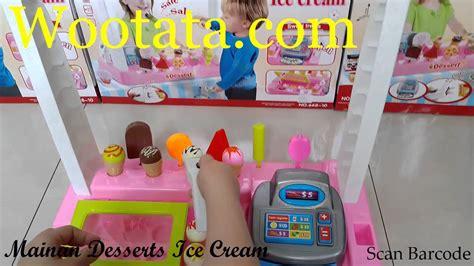 Penjual Cone Es Krim 3 jual mainan desserts termurah