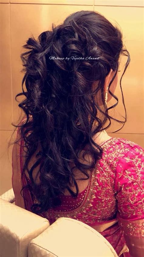 Wedding Reception Hairstyle For by South Indian Bridal Hairstyle For Reception Hairstyle By