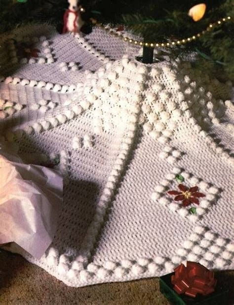 free crochet pattern for xmas tree skirt x814 crochet pattern only snowdrift christmas tree skirt