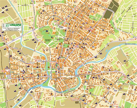 map of city maps of kharkov detailed map of kharkov in