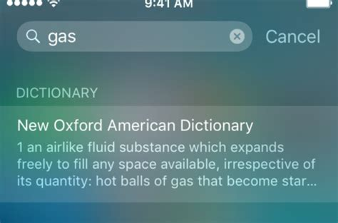 how to use spotlight search to look up the definition of words