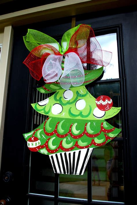 christmas tree door hanger christmas decor christmas