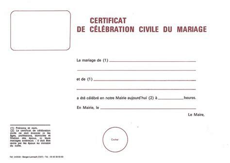 Mod Le De Lettre D Invitation D Hebergement mod le certificat de mariage