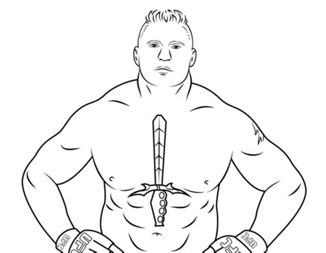 wwe coloring pages free large images wwe brock lesnar coloring page free printable coloring pages