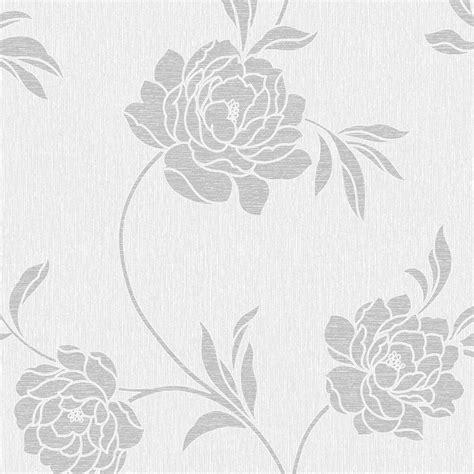 black and white floral wallpaper b q elegant white and silver wallpaper