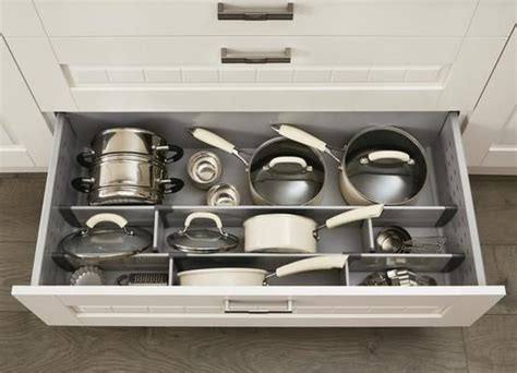 Pan Drawer Dividers pan drawer divider kit howdens general idea for larger drawer frypan would fit on side due to