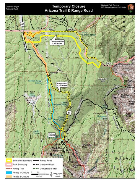 arizona road closures map inciweb the incident information system thompson large map