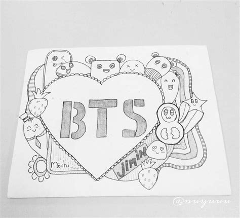 doodle 4 drawing page bts doodle army s amino