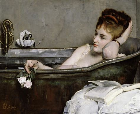 bathtub paintings the bath by alfred george stevens