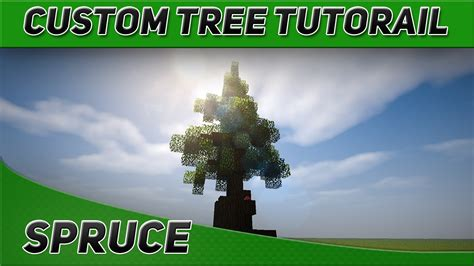 minecraft tree tutorial minecraft tree tutorials spruce tree