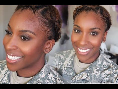 army cornrow styles military hair and makeup tutorial youtube