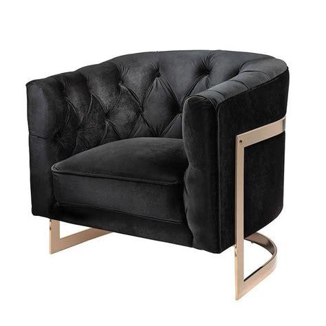 Black Occasional Chair Design Ideas Black Velvet Tufted Accent Chair Chair Design Ideas