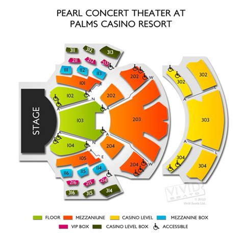 Crown Casino Floor Plan by Pearl Concert Theater At Palms Casino Resort Tickets