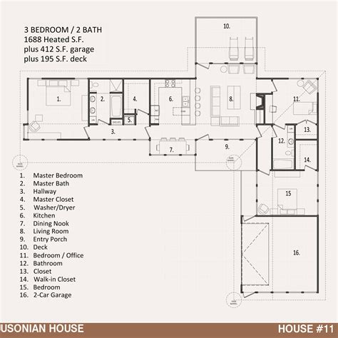 hoem plans house 11 the usonian house jody brown architecture pllc