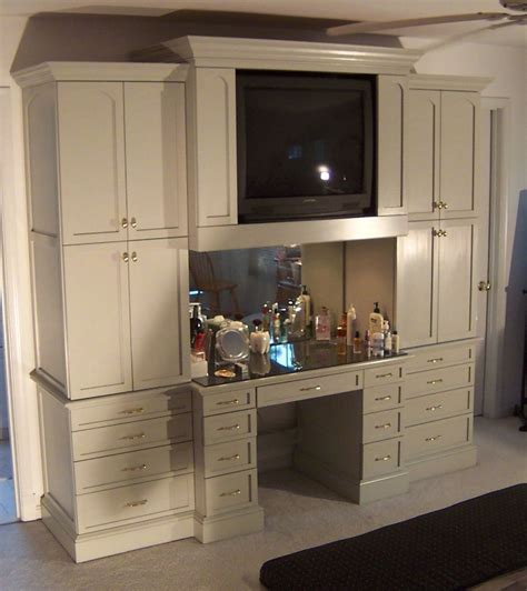 Custom Bedroom Vanity by Custom Bedroom Cabinet And Makeup Table By Sjk Woodcraft