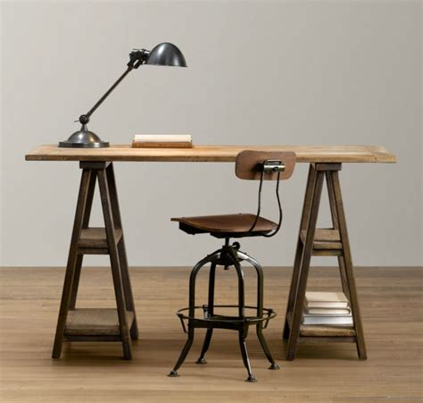 sawhorse desk 15 home offices featuring trestle tables as desks