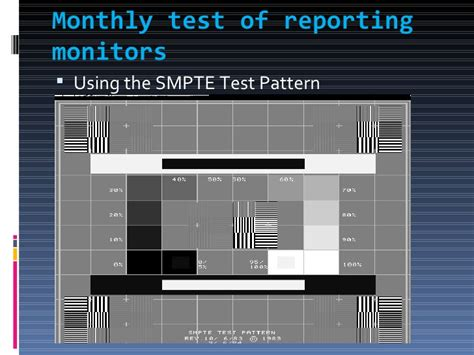 smpte test pattern ultrasound anjali qa qc on cr dr