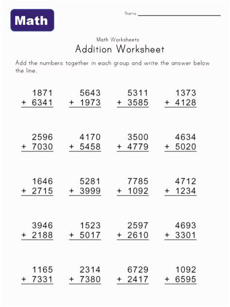 math help addition worksheets kids learning station